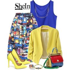 SheIn Multi Colored Skirt