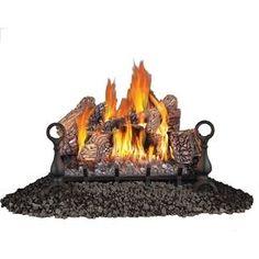 Napoleon�24-in W/20-in W 60,000-BTU Single-Burner Vented Gas Fireplace Logs