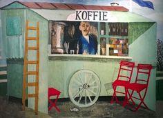 Hermanus Berserik (NL 1921 - 2002)  Koffiekraam / Coffee stall (1958)