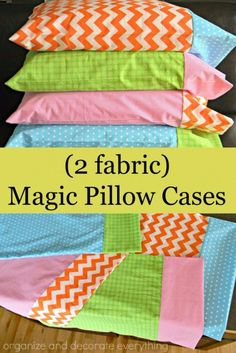 DIY Pillowcases - Magic Pillowcase - Easy Sewing Projects for Pillows - Bedroom and Home Decor Ideas - Sewing Patterns and Tutorials - No Sew Ideas - DIY Projects and Crafts for Women http://diyjoy.com/sewing-projects-diy-pillowcases