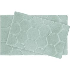 Pearl Honeycomb 2 Piece Bath Mat Set Color Sea Foam 185 SAR Bathroom RugsBath