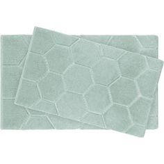 Pearl Honeycomb 2 Piece Bath Mat Set Color Sea Foam 185 SAR Bathroom RugsBath