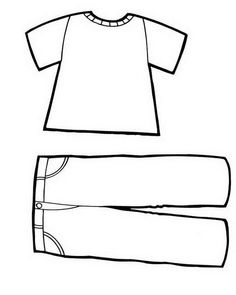 Best 12 Clothing Coloring Pages 49 Clothing Templates, Clothing Sketches, Felt Doll Patterns, Quiet Book Patterns, Online Coloring Pages, Coloring Pages For Kids, Clothing Themes, Pioneer Gifts, Pajama Day