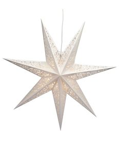Vallby Stjärna - Vit - 75 cm - Markslöjd
