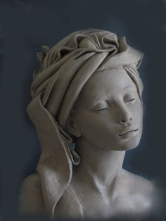 Born 1952 Marie-Paule Deville-Chabrolle lives and works in France. She studied at the Ecole des Beaux-Arts in Pau and spent two years in the Phnom-Penh Fine Arts faculty in Cambodia. Her approach is a highly personal adventure. Sculpture Head, Sculptures Céramiques, Pottery Sculpture, Sculpture Portrait, Clay Art, Ceramic Art, Art Dolls, Sculpting, Fine Art