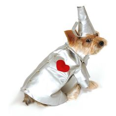Tin Man Puppy Halloween Dog Costume by Anit at BaxterBoo