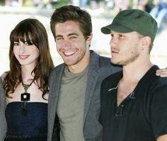 Anne Hathaway, Jake Gyllenhaal & Heath Ledger