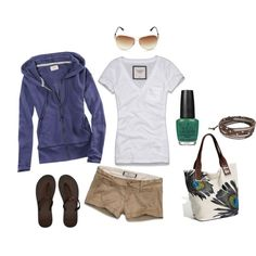 The shorts need to be a little longer, but otherwise this is a great outfit for lounging around or running errands.