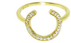 #StyleMint                #ring                     #Gold #Pave #Horseshoe #Ring                        Gold Pave Horseshoe Ring                            http://www.seapai.com/product.aspx?PID=1756136