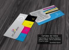 Cartões de Visita Personalizados, Impressão Digital.