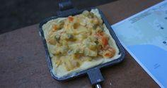 Pie Iron Chicken Pot Pie