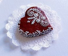 Lace cookie.Part3. CookieCon2015.Wedding heart cookie.