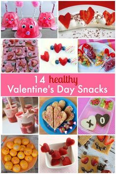 Healthy Valentine's Day Snack Ideas for Kids-Share some love without all of the sugar with these ideas for class parties, lunchboxes, after school, and Valentine's Day parties