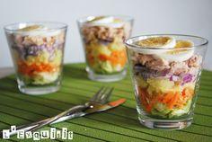 individual salads.....look great, taste great!