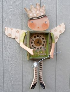 How to make a Fairy Dust Baby Clock from Recycled Scraps.... Oooo sooo cute!!!!