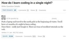 How To Learn Programming in a single night- Great Answer