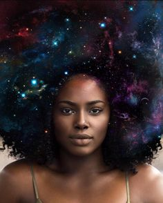 This galaxy hair art will blow your mind.