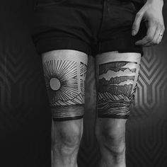 Los Angeles custom tattoo shop specializing in geometric, blackwork and dotwork tattoos. Upper Thigh Tattoos, Thigh Tattoo Men, Knee Tattoo, Leg Tattoos, Tattoos For Guys, Sleeve Tattoos, Cool Tattoos, Tattoo Forearm, Tatoos