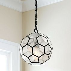 Seeded Honey Comb Pendant traditional pendant lighting. Looks like a soccer ball! Stella's room?