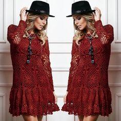 Dose dupla de MARSALA! ♥ Quem já usou a cor do ano? O tom 7136 está disponível nos fios CLÉA, ANNE e CHARME. Garanta já os seus novelos e fique na moda. #marsala #marsalacirculo #croche #moda #lookdodia #ootd #vestido