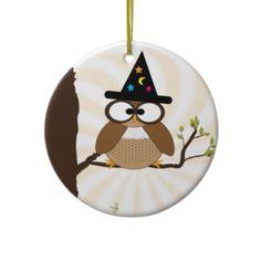 Búho Halloween Ornaent de la bruja Ornamentos Para Reyes Magos