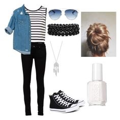 """""""Untitled #50"""" by xheartit101 ❤ liked on Polyvore featuring Yves Saint Laurent, Converse, Sans Souci, Christian Dior, Bling Jewelry, Lucky Brand and Essie"""