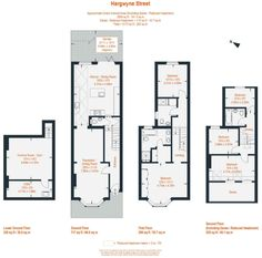 side return extension floor plans - Google Search