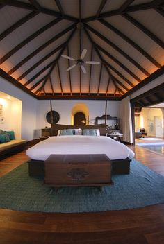 We will for sure make use of this bed...and other items attached to the ceilings and walls