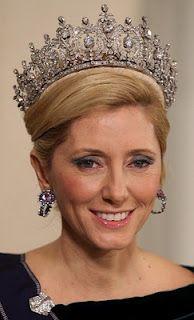 Princess Marie-Chantal wearing Queen Sophie's Diamond Tiara