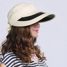 Summer bow visor hats for women UV riding sun protection hat