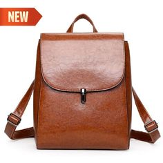 Faux Leather Women Backpack Travel Packs Backpacks Casual Travel School Bag   9e0afce46406d
