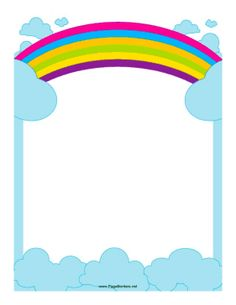 Borders For Paper, Borders And Frames, Paper Journal, School Border, Artsy Background, Notebook Cover Design, Boarder Designs, School Frame, Rainbow Photo