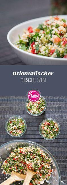 Einfacher, orientalischer Couscous Salat mit frischem Gemüse. Gut vorzubereiten.