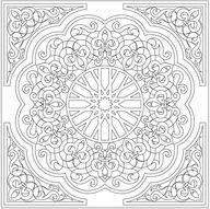 art nouveau coloring pages for adults | coloring pages