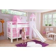 Lit superpos avec toboggan coloris bois naturel bebes enfants pinterest - Lit superpose avec armoire ...