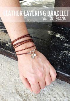 leather layering bracelet DIY