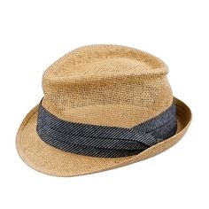 d4c2ac514fb Straw chambray trilby hat