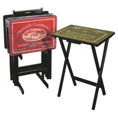 Tv Trays Tray Set Table Kitchen Furniture