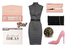 """""""Office"""" by loadston-e on Polyvore featuring мода, Dsquared2, Christian Louboutin, Lanvin, Tom Dixon, L'Objet, Anya Hindmarch, dress, office и autumn"""