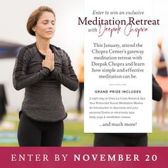 Meditate Like A #Boss! Enter To Win A Retreat With Deepak Chopra @  https://giveaways.dojomojo.ninja/landing?promo_id=499eae40-be59-4a38-ab4e-5c8c1292f24c&campaign_id=2050&utm_campaign=Meditation-Retreat-with-Deepak-Chopra-for-Two&utm_medium=sweeps&utm_source=Spa-Week-Media&title=Meditation%20Retreat%20with%20Deepak%20Chopra%20for%20Two