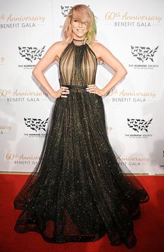 Kesha stepped onto the red carpet at the Humane Society Benefit Gala looking healthy and happy in a stunning black gown with a sparkly, sheer bottom.