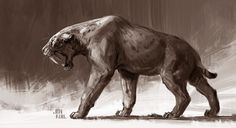 ArtStation - Smilodon aka sabertooth and , Jonathan Kuo