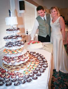 Manistee Wedding Reception - Cupcake Tower  www.rozmarekphotography.com