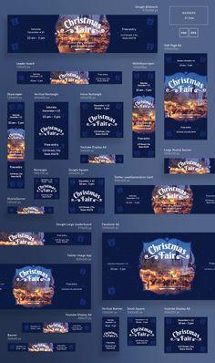 hotel publicidad Xmas Web Banner Design Templates Bundle + FREE on Behance Web Banner Design, Web Design, Banner Design Inspiration, Web Banners, Layout Design, Design Websites, Christmas Banners, Christmas Design, Banner Template