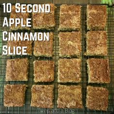 10 Second Apple Cinnamon Slice Healthy Slice, Healthy Cake, Healthy Baking, Healthy Snacks, Healthier Desserts, Healthy Breakfasts, Apple Recipes, Sweet Recipes, Radish Recipes