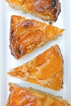 Lavender Scented Peach and Corn Upside-Down Cake (gluten-free)