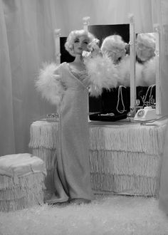 Gene Marshall as Jean Harlow (Dinner at 8)