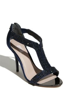 Glittery shoe for the bride or bridesmaids! In navy, pink and black.