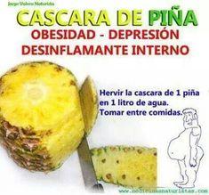 Cascara de Piña #medicinasnaturales #medicinasalternativas