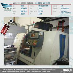 High Quality Used #Bemato VMC MC #Machine In #Ahmedabad, #Gujarat Machine: Bemato VMC MC    2004 MC: VMC Make: Bemato Model: Bmt 1020 J Year: 2004 Control:  Mitsubishi M 6 ...